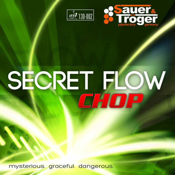 Tischtennis Offensivbelag Secret Flow Chop Cover Vorderseite