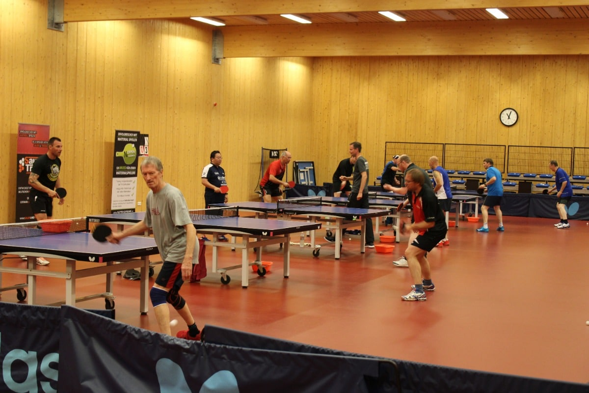 Training start table tennis