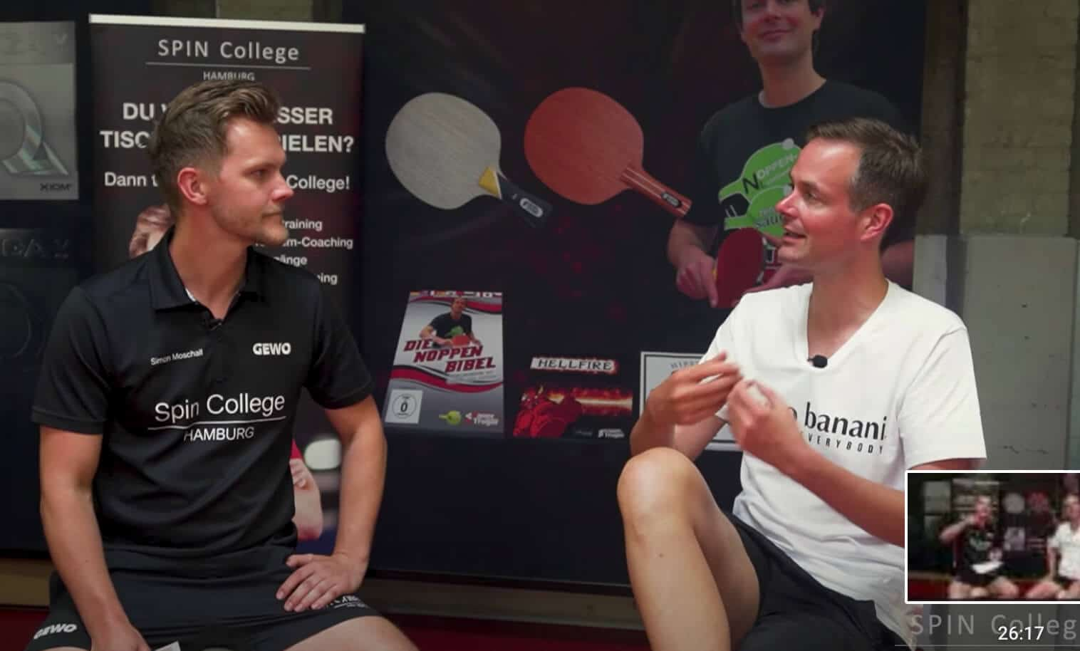 Table tennis pimples Interview Sebastian Sauer and Simon Moschall