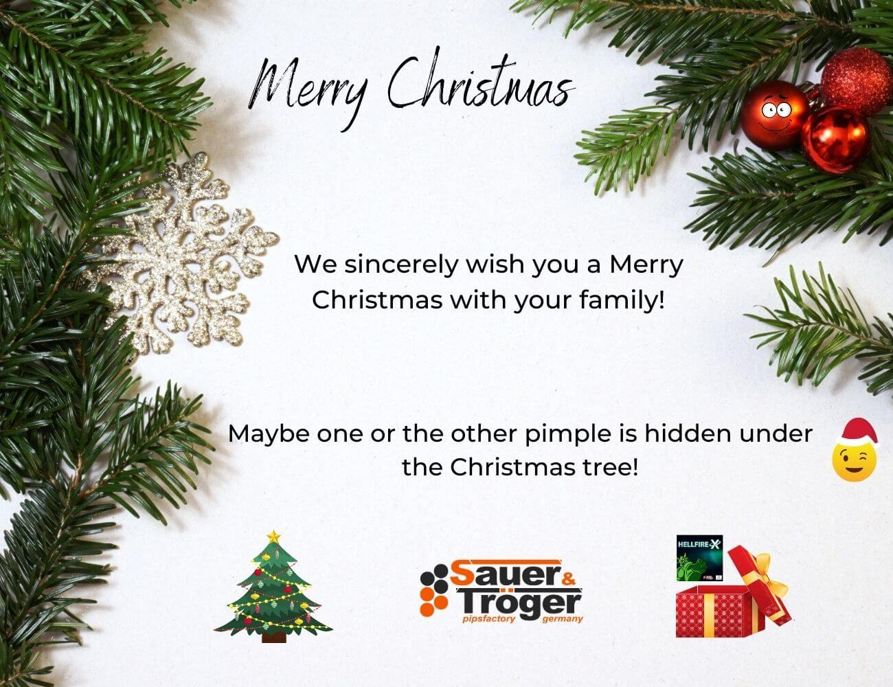 Merry Christmas from Sauer & Tröger table tennis pimples expert